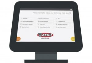 Capture student interests with the CityGro iPad kiosk for universities.