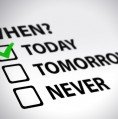 "time management with checkboxes ""today, tomorrow, never"""