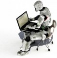 Marketing Automation (robot on laptop)