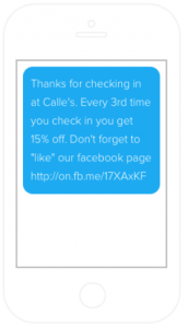 Automated marketing welcome message