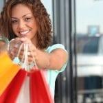 happy customer shopping
