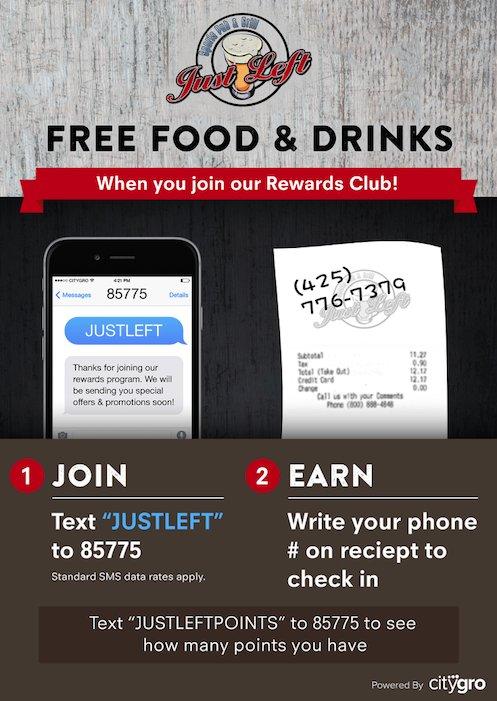 Graphic Illustrating text marketing strategies for restaurants powered by CityGro
